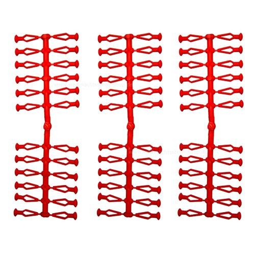 72 Stück Ersatzklammern für Original Herrnhuter Sterne aus Kunststoff (A4 und A7) in rot