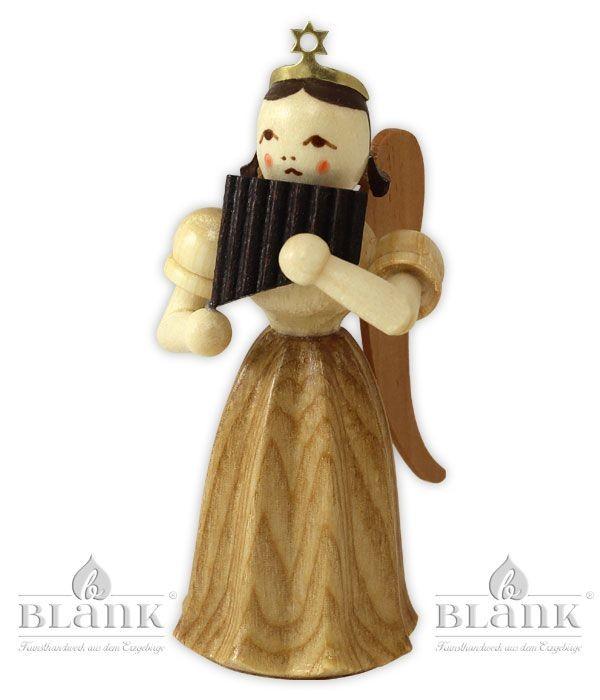 Blank - Faltenlangrockengel mit Panflöte
