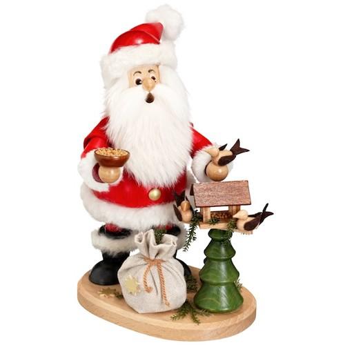 DWU - Räuchermann Weihnachtsmann mit Vogelhaus, 25cm