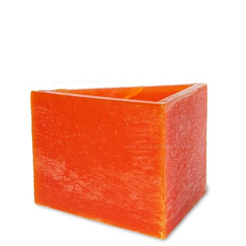 """Lampionkerze """"Dreieck"""" orange"""