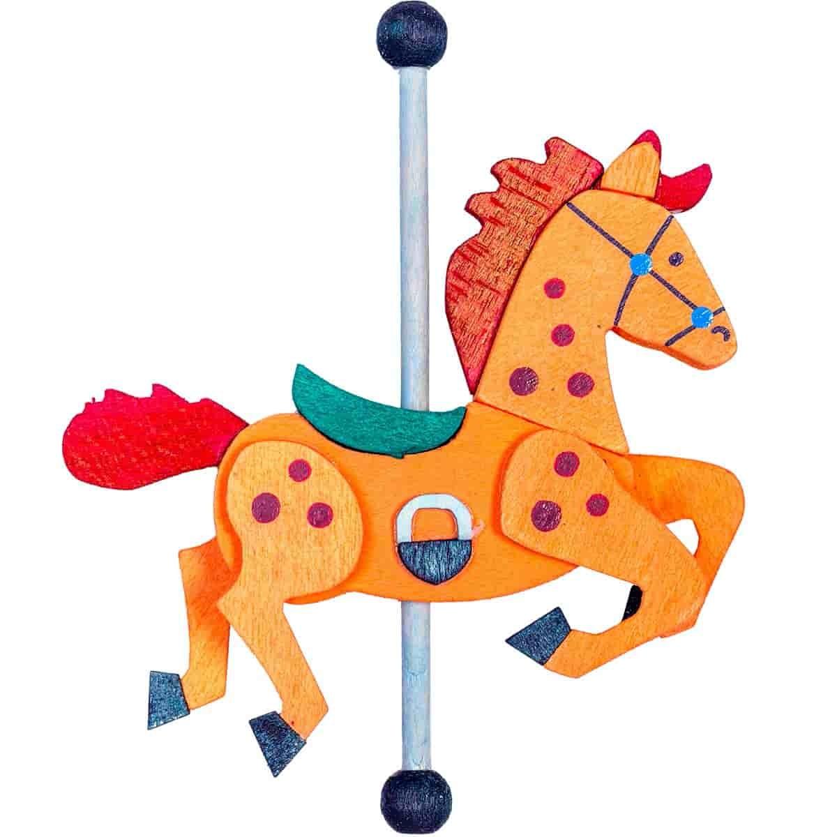 Graupner - Karussellpferd als Baumschmuck orange / rot