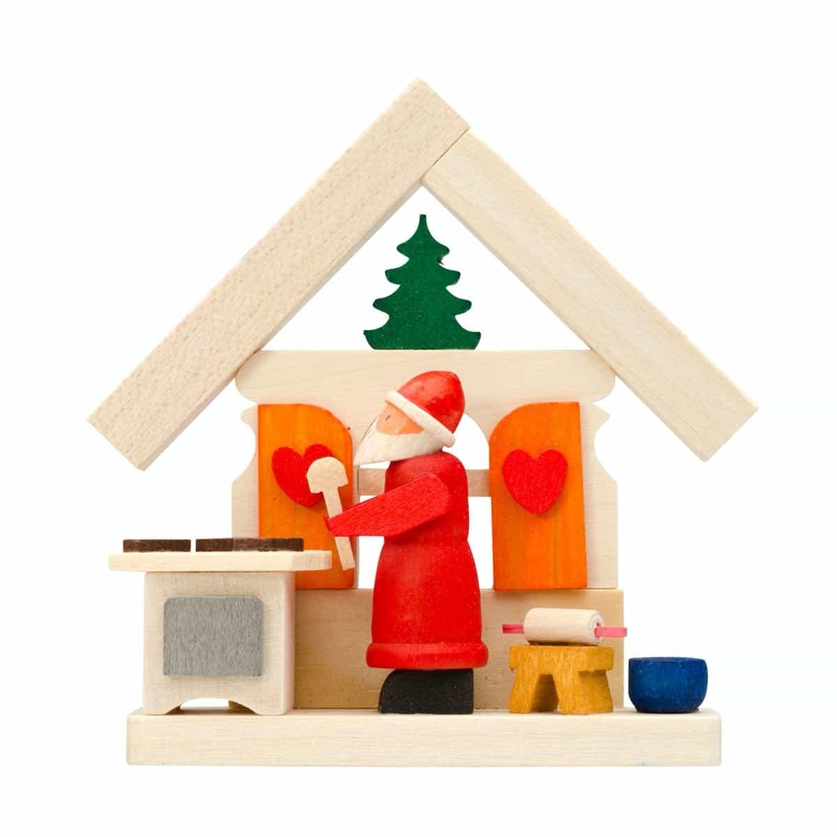 Graupner - Haus Weihnachtsmann als Baumschmuck mit Bäckerei