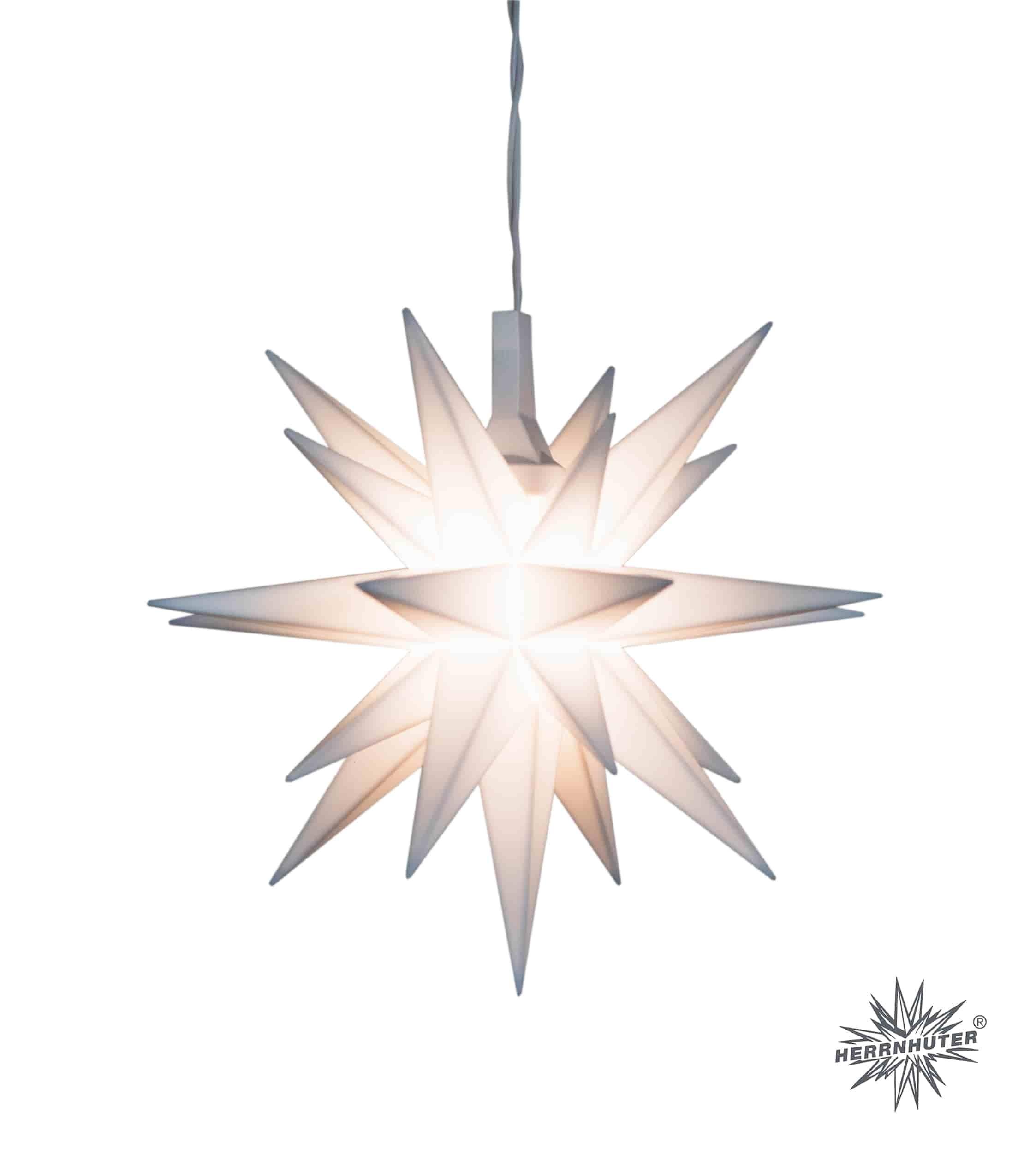 Original Herrnhuter Miniaturstern für innen ø ca. 8 cm weiß inkl. LED