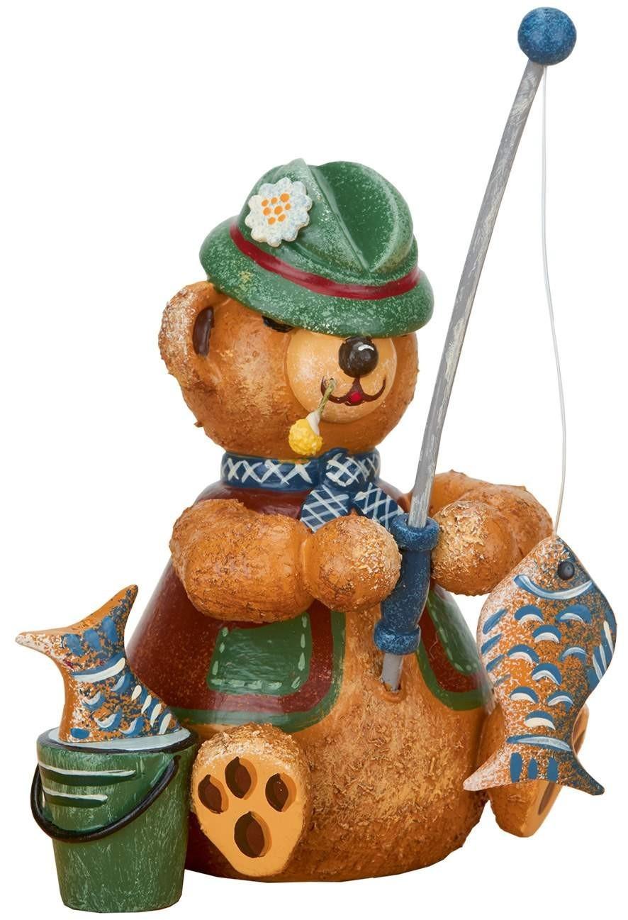 Hubrig Volkskunst - Hubiduu - Teddy mit Herz - Angler
