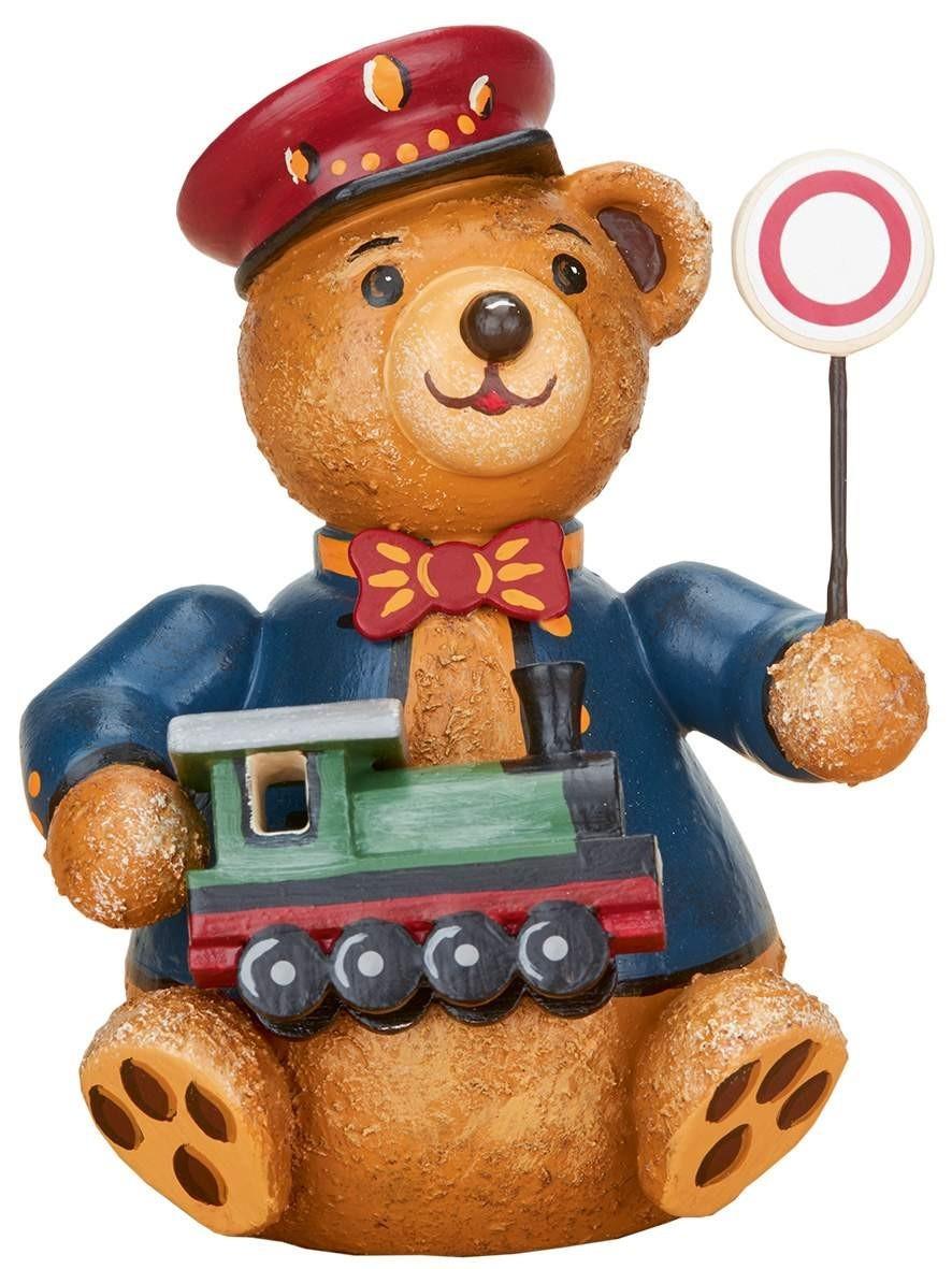 Hubrig Volkskunst - Hubiduu - Teddy mit Herz - Eisenbahner