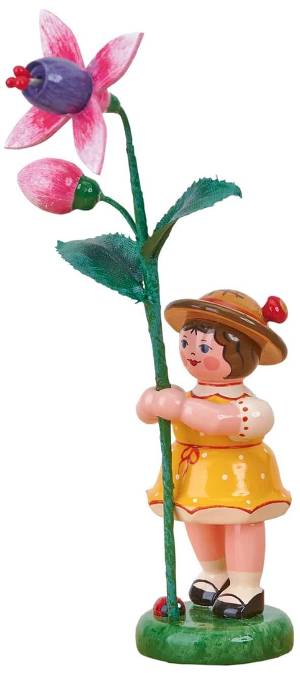 Hubrig - Blumenkinder - Blumenmädchen mit Fuchsie 11cm