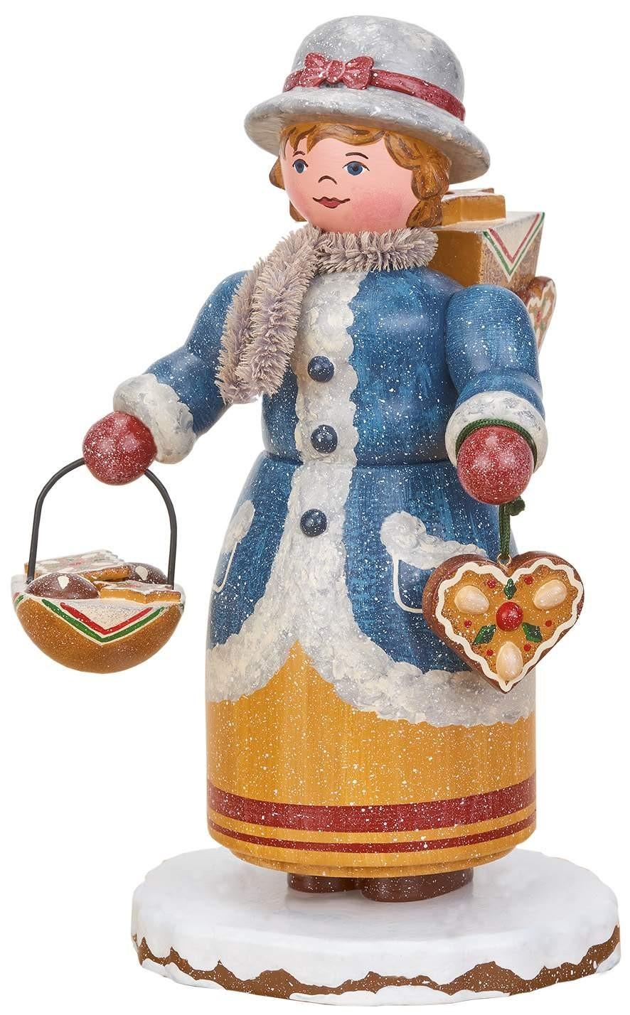 Hubrig Volkskunst - Räuchermann Winterkinder - Lebkuchenhändlerin