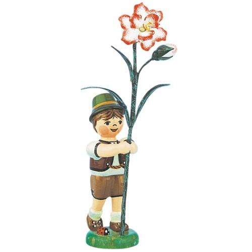 Hubrig - Blumenkinder - Blumenjunge mit Nelke 11 cm