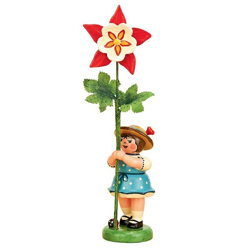 Hubrig - Blumenkinder - Blumenmädchen mit Akelei 7cm