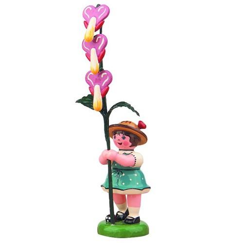 Hubrig - Blumenkinder - Blumenmädchen mit Tränenden Herz 7cm