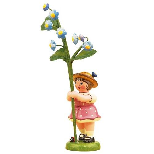Hubrig - Blumenkinder - Blumenmädchen mit Vergissmeinnicht 7cm