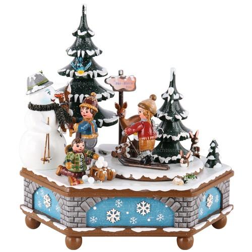 Hubrig Volkskunst - Musikdosen - Spieluhr Winterzeit 20 cm