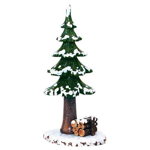 Hubrig - Winterkinder - Winterbaum mit Holzstapel
