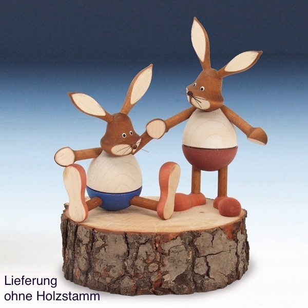 Knuth Neuber - Hasenpaar, bunt, 13cm