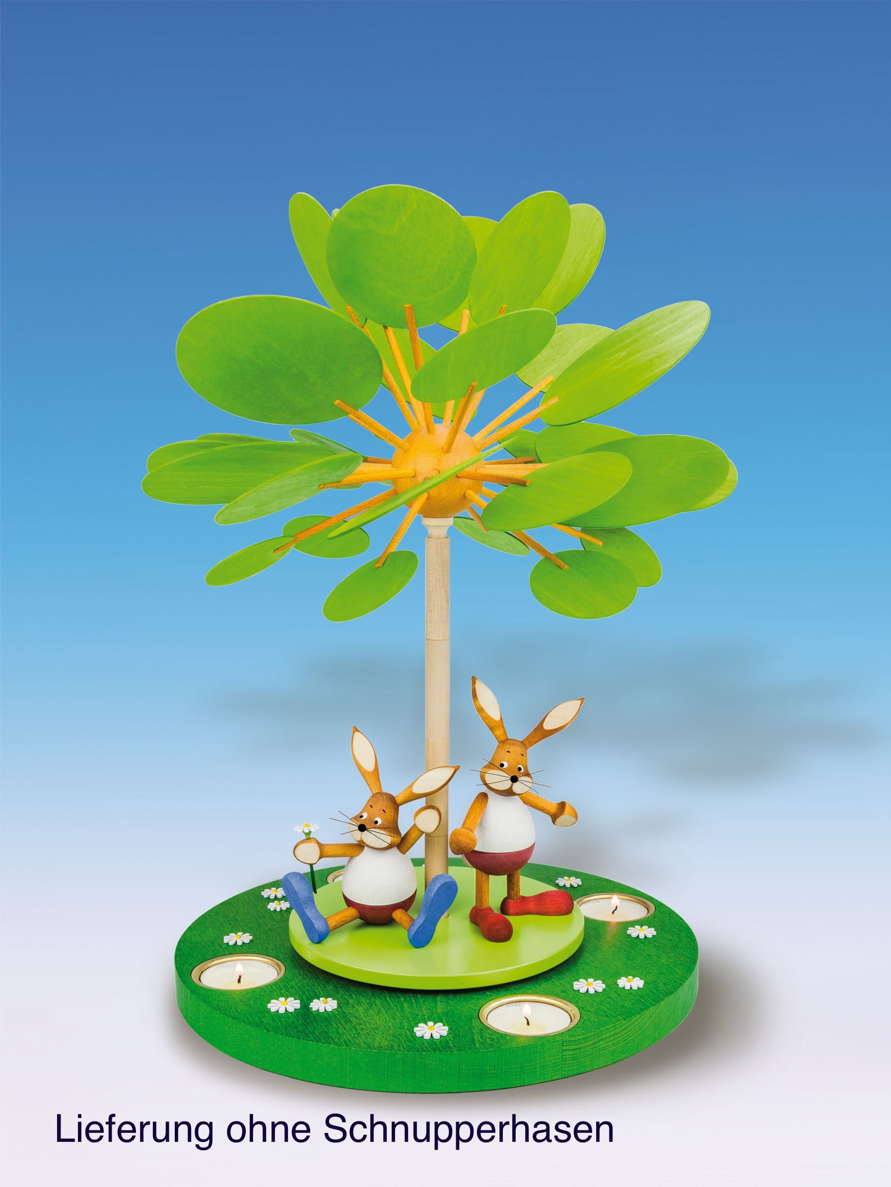 """Knuth Neuber Teelichtpyramide Jahreszeitenbaum """"Frühlingserwachen"""" unbestückt 42 cm"""
