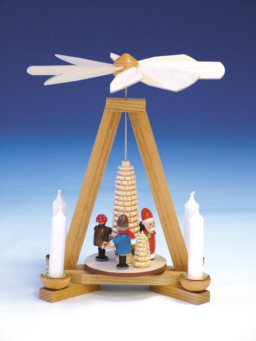 Knuth Neuber Pyramide Weihnachtsmann und Striezelkinder 23cm