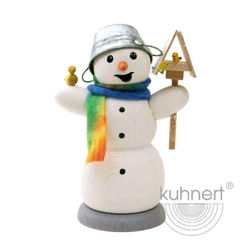 Kuhnert - Schneemann mit Vogelhaus und Vogel