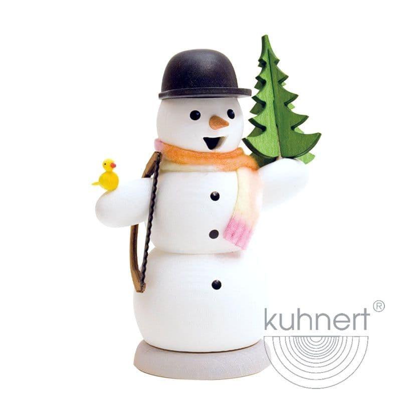 Kuhnert - Schneemann mit Tanne und Säge