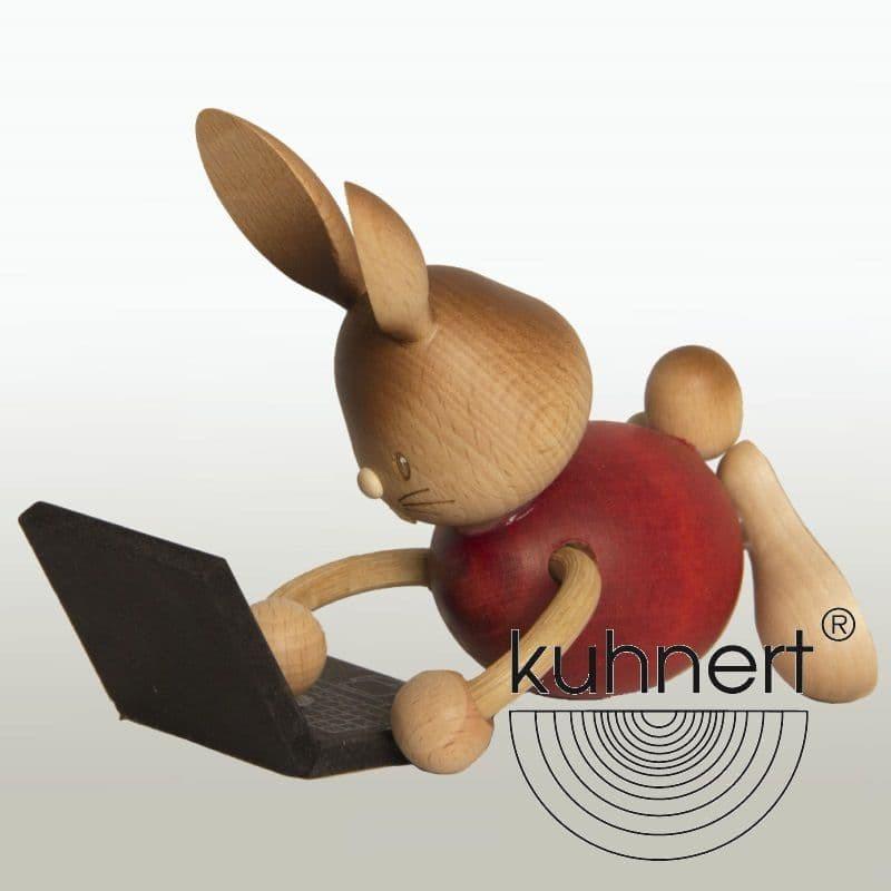 Kuhnert - Stupsi Hase mit Laptop
