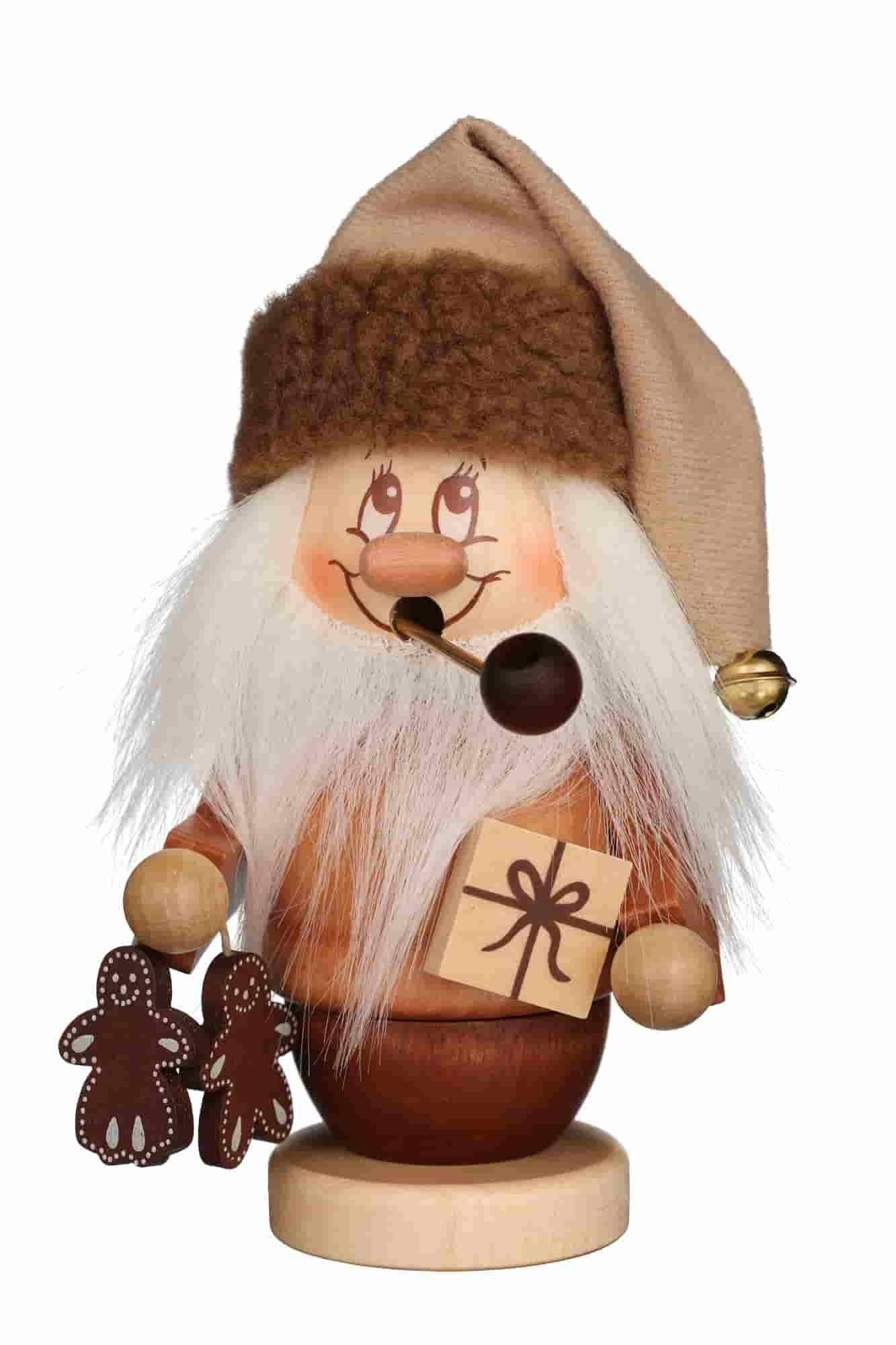 Christian Ulbricht - Räuchermann Miniwichtel Weihnachtsmann mit Päckchen