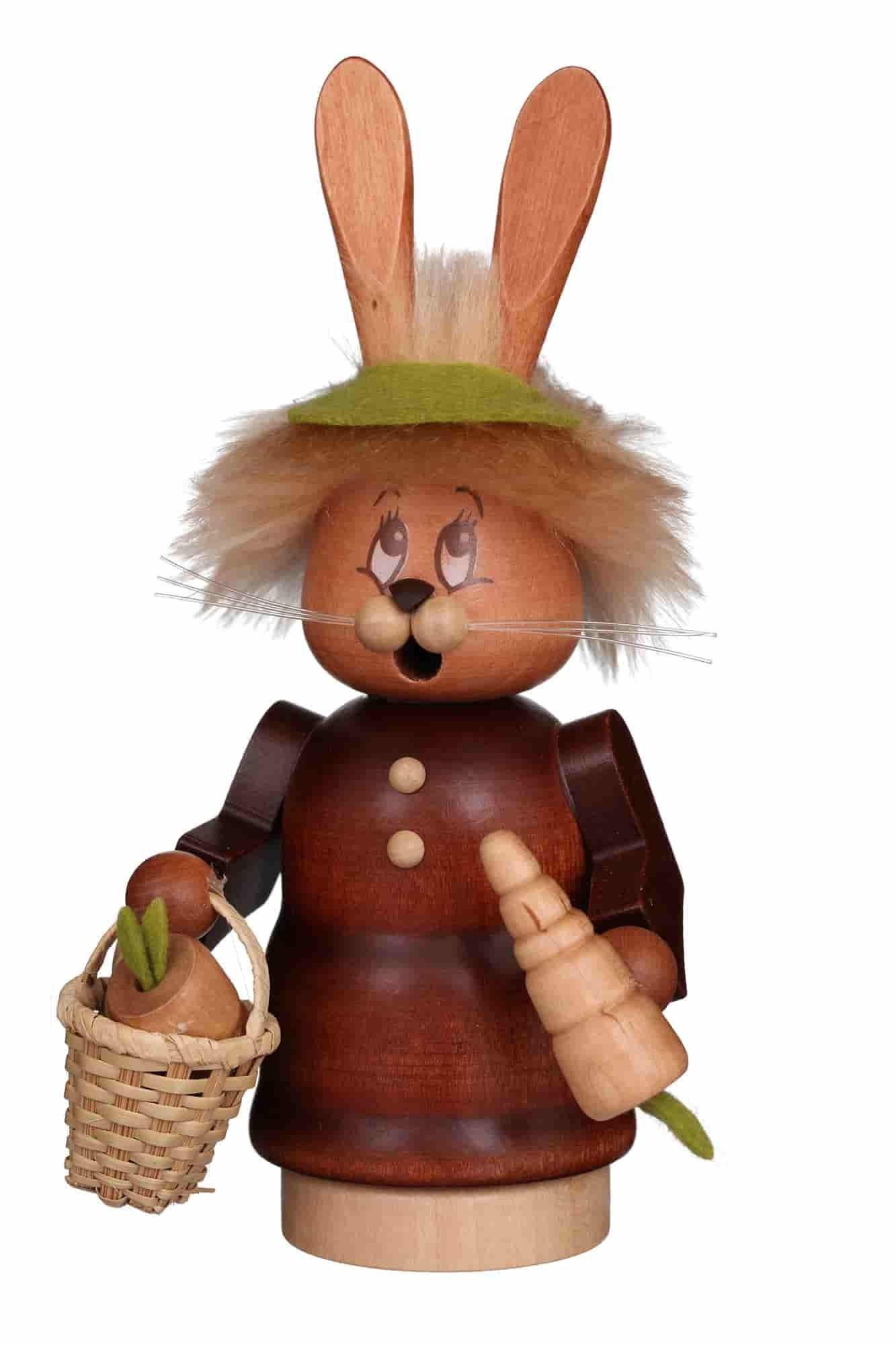 Christian Ulbricht - Räucherfigur Miniwichtel Häsin mit Karotte