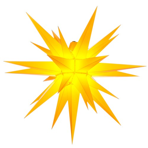 Original Herrnhuter Stern für außen ø ca. 68 cm gelb (A7)