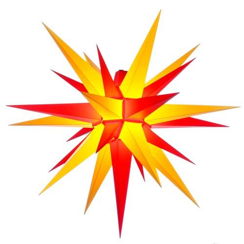 Original Herrnhuter Stern für außen ø ca. 68 cm gelb / rot (A7)