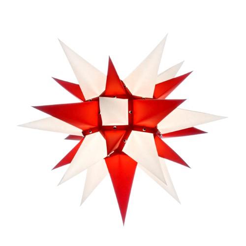 Original Herrnhuter Stern für innen ø ca. 40 cm weiß / rot (I4)