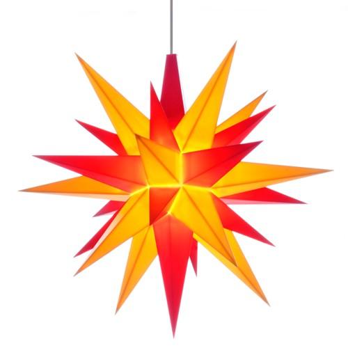 Original Herrnhuter Stern für innen ø ca. 13 cm gelb / rot (A1e)