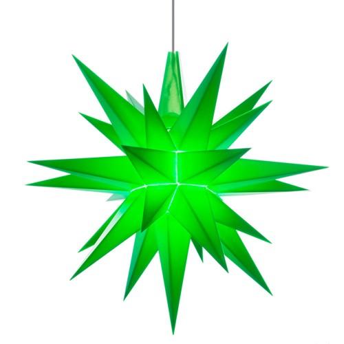 Original Herrnhuter Stern für innen ø ca. 13 cm grün (A1e)