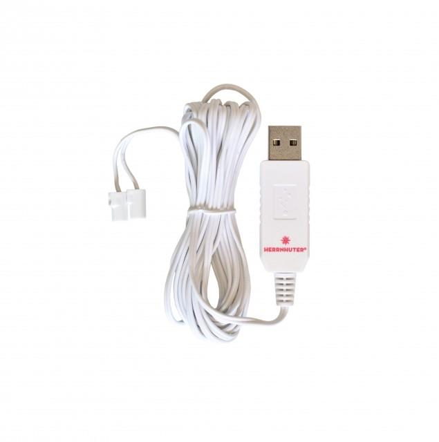 USB-Adapter für Beleuchtung von Original Herrnhuter Sternen (ø 13 cm) für innen