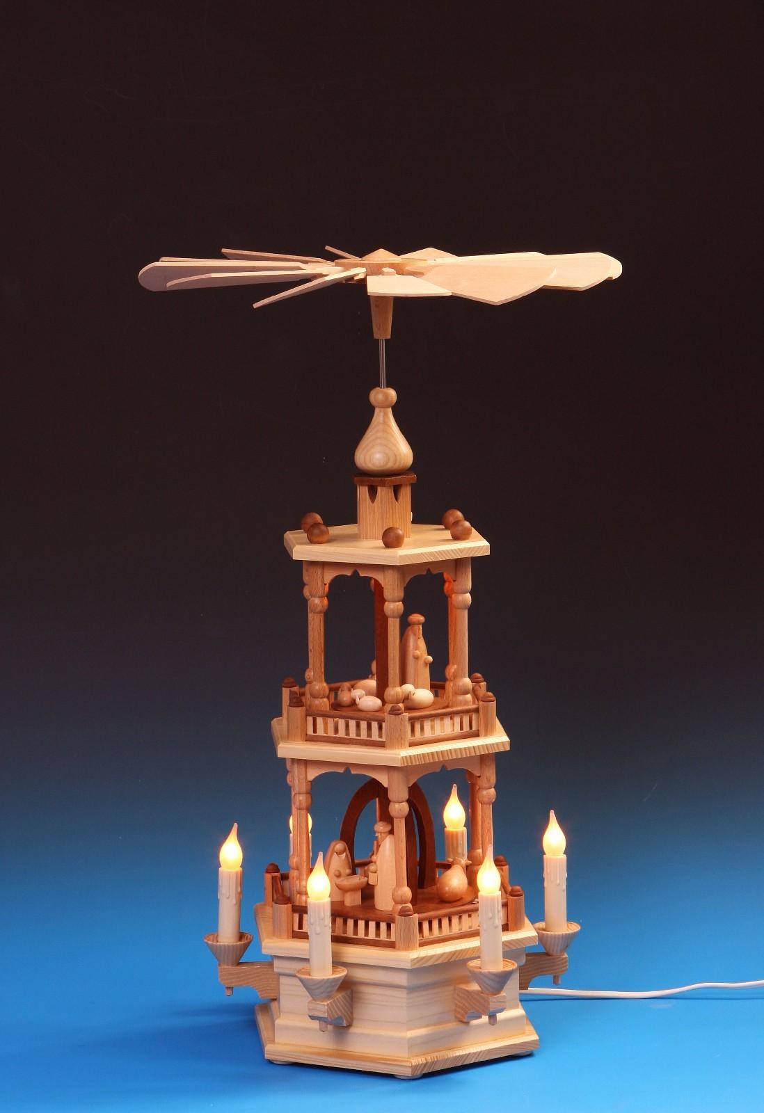 Pyramide Christi Geburt 2-stöckig elektr.