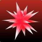 Annaberger Faltstern No. 5 ø 58 cm weiße Spitzen mit rotem Kern