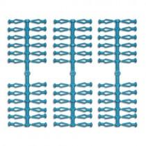 72 Stück Ersatzklammern für Original Herrnhuter Sterne aus Kunststoff (A4 und A7) in blau