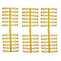 72 Stück Ersatzklammern für Original Herrnhuter Sterne aus Kunststoff (A4 und A7) in gelb