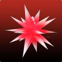 Annaberger Faltstern No. 3 ø 35 cm weiße Spitzen mit rotem Kern