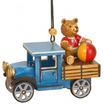 Hubrig Volkskunst - Baumbehang und Baumclipser - LKW mit Teddy