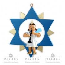 Blank - Kurzrockengel farbig im Stern mit Klarinette