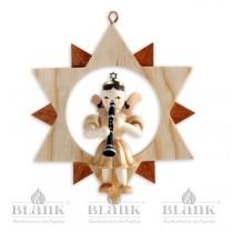 Blank - Kurzrockengel im Stern mit Klarinette