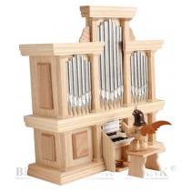 Blank - Kurzrockengel an Orgel mit Spielwerk