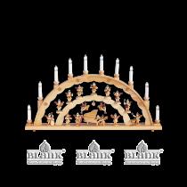 Blank - Schwibbogen mit Engel am Flügel (Lieferung enthält Engel am Klavier und zwei Schwebeengel)