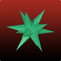 Kleiner Dresdner Weihnachtsstern in grün
