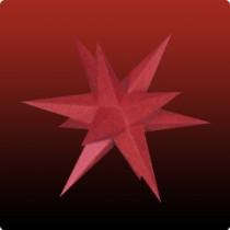 Kleiner Dresdner Weihnachtsstern in rot