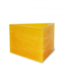 """Lampionkerze """"Dreieck"""" gelb"""