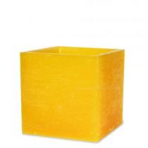 """Lampionkerze """"Würfel"""" gelb 110x105mm"""