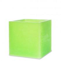 """Lampionkerze """"Würfel"""" grün 110x105mm"""
