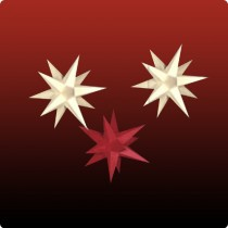 Dresdner Weihnachtsstern im Set gelb/rot/gelb