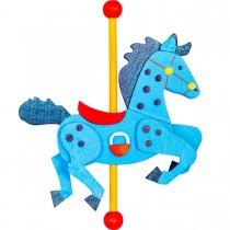 Graupner - Karussellpferd als Baumschmuck blau / dunkelblau
