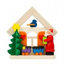 Graupner - Haus Weihnachtsmann als Baumschmuck mit Eisenbahn