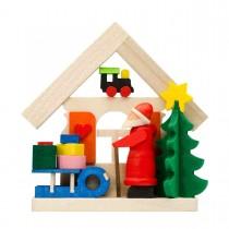 Graupner - Haus Weihnachtsmann als Baumschmuck mit Schlitten